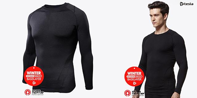 (テスラ)TESLA 冬用起毛ラウンドネックシャツ